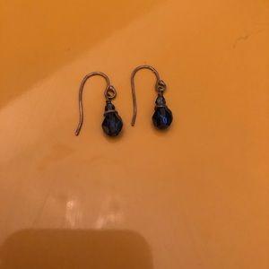 3/$10 Periwinkle Gemstone Dangling Earrings